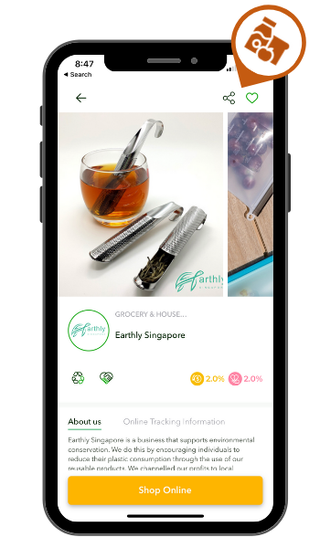 Eco-friendly brand Earthly Singapore on susGain app